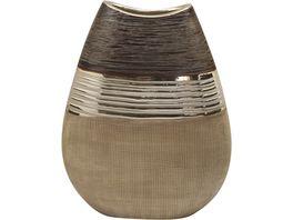GILDE Vase flach Bradora 21 x 8 x 16 cm