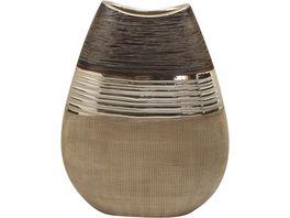 GILDE Vase flach Bradora 25 5 x 10 x 20 5 cm