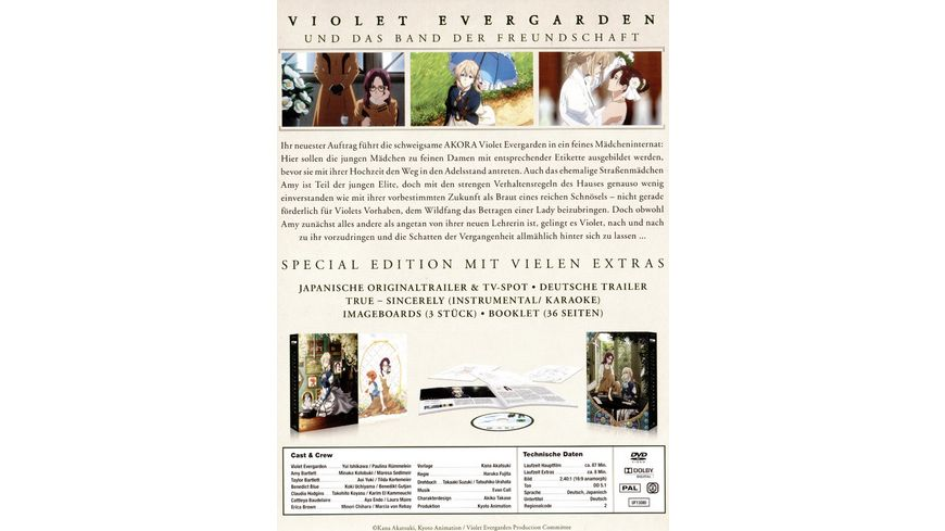 Violet Evergarden und das Band der Freundschaft Limited Special Edition