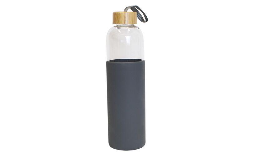 Trinkflasche aus Glas mit Silikonhülle 0,55l