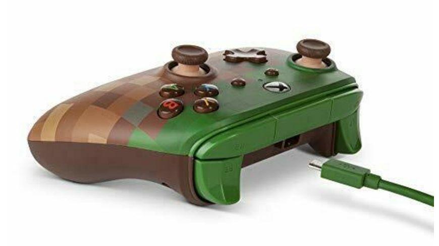 PowerA Xbox One Wired Controller Minecraft Grasblock