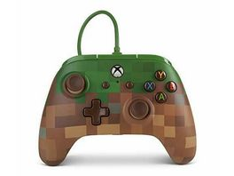 PowerA Xbox One Wired Controller Minecraft Grasblock
