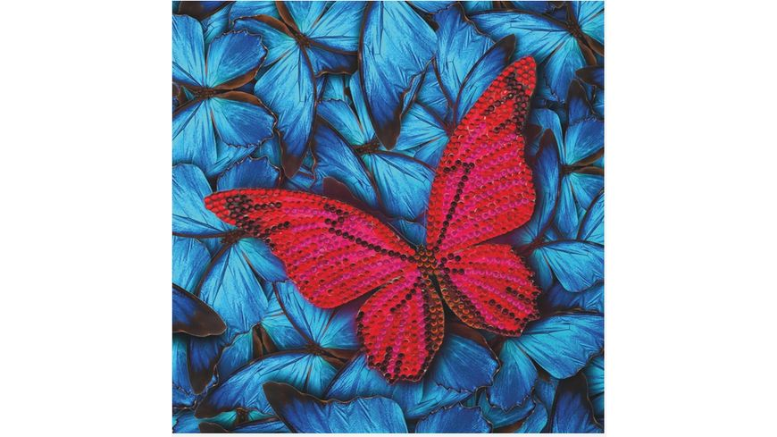 Craft Buddy - Crystal Art Card Kit Schmetterling 18 x 18 cm