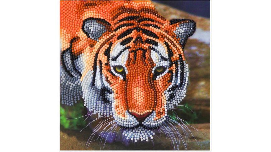 Craft Buddy - Crystal Art Card Kit Tiger, 18 x 18 cm