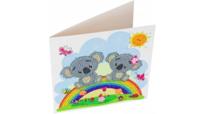 Craft Buddy - Crystal Art Card Kit Koala 18 x 18 cm