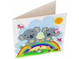 Craft Buddy Crystal Art Card Kit Koala 18 x 18 cm