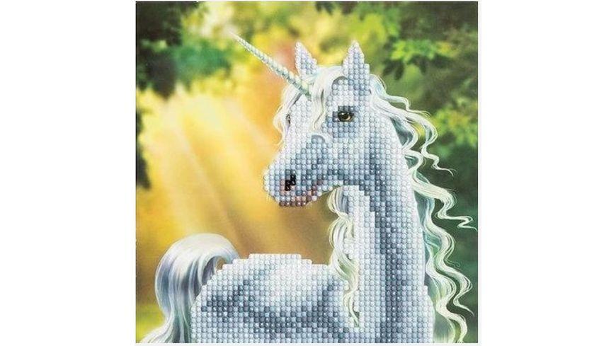 Craft Buddy - Crystal Art Card Kit Einhorn 18 x 18 cm