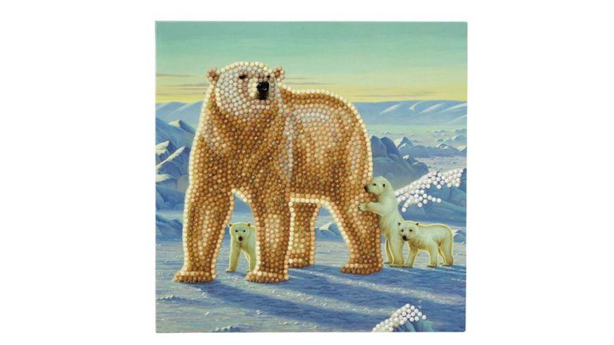 Craft Buddy - Crystal Art Card Kit Eisbär 18 x 18 cm