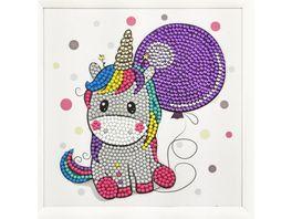 Craft Buddy Crystal Art Frameables Einhorn 18 x 18 cm