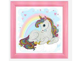Craft Buddy Crystal Art Frameables Regenbogen Einhorn 18 x 18 cm