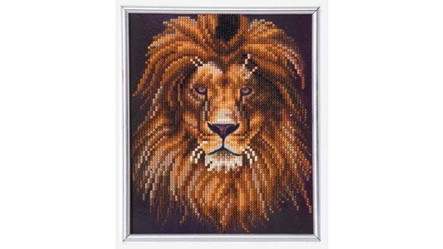 Craft Buddy - Crystal Art Picture Frame-Kit Löwe 21 cm x 25 cm