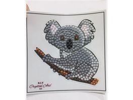 Craft Buddy Crystal Art Motiv Sticker Bastelset Set Koala