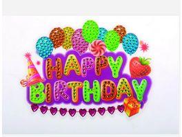 Craft Buddy Crystal Art Motiv Sticker Bastelset Set Happy Birthday