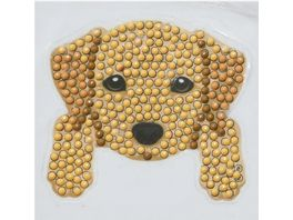 Craft Buddy Crystal Art Motiv Sticker Bastelset Set Hund