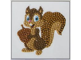 Craft Buddy Crystal Art Motiv Sticker Bastelset Set Eichhoernchen