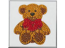 Craft Buddy Crystal Art Motiv Sticker Bastelset Set Teddy Baer