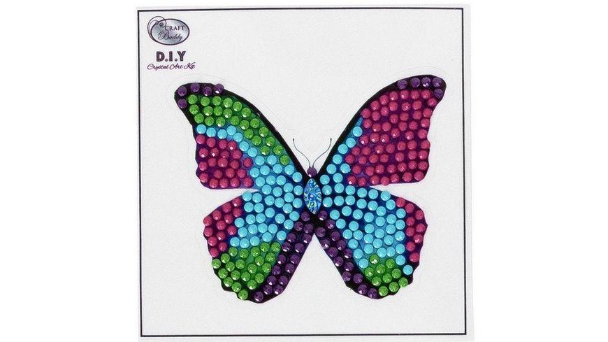 Craft Buddy - Crystal Art Motiv Sticker-Bastelset Set Schmetterling