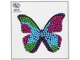 Craft Buddy Crystal Art Motiv Sticker Bastelset Set Schmetterling
