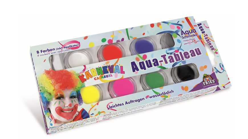 Fries 30486 - Aqua Tableau Karneval Inhalt: 8 Tiegel
