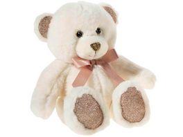 Heunec Friends4ever Pearlie Baer Creamie mit rose Schleife Teddy 18cm