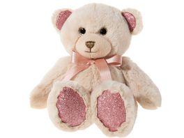 Heunec Friends4ever Pearlie Baer Taupie mit rose Schleife Teddy 18cm