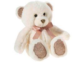 Heunec Friends4ever Pearlie Baer Creamie mit rose Schleife Teddy 23cm