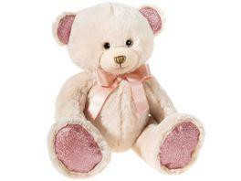 Heunec Friends4ever Pearlie Baer Taupie mit rose Schleife Teddy 23cm