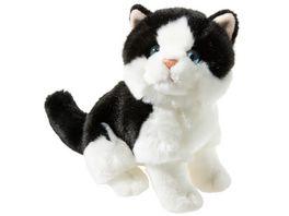 Heunec Misanimo Katze schwarz weiss sitzend 24cm