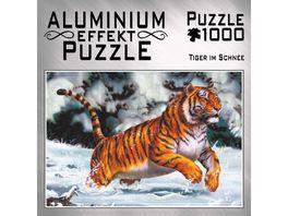 M I C Aluminium Puzzle Tiger im Schnee 1000 Teile