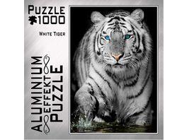 M I C Aluminium Puzzle White Tiger 1000 Teile