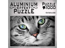 M I C Aluminium Puzzle Katzenliebe 1000 Teile