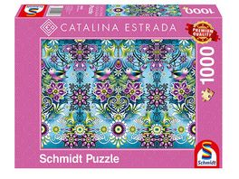Schmidt Spiele Erwachsenenpuzzle Catalina Estrada Blauer Sperling 1000 Teile