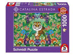 Schmidt Spiele Erwachsenenpuzzle Catalina Estrada Bengalischer Tiger 1000 Teile