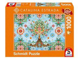 Schmidt Spiele Erwachsenenpuzzle Catalina Estrada Farbenpraechtiger Baum 1000 Teile