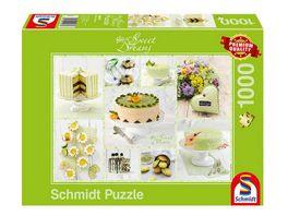 Schmidt Spiele Erwachsenenpuzzle Fruehlingsgruenes Kuchenbuffet 1000 Teile