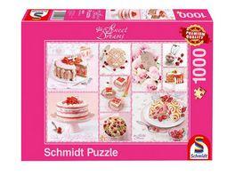 Schmidt Spiele Erwachsenenpuzzle Rosa Tortenglueck 1000 Teile