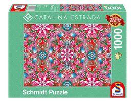 Schmidt Spiele Erwachsenenpuzzle Catalina Estrada Roter Rosenstock 1000 Teile