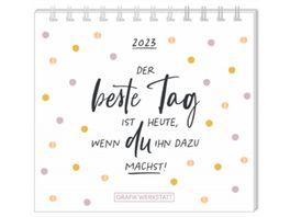 GRAFiK WERKSTATT Mini Kalender 2021 Der beste Tag