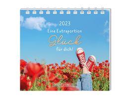 GRAFiK WERKSTATT Mini Kalender 2021 Extraportion Glueck