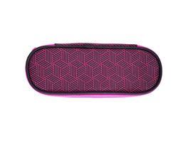 PAPERZONE Schueleretui Geometrische Muster pink