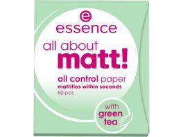 essence all about matt oil control paper