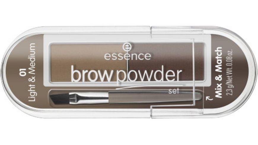 essence brow powder set 02 dark & deep