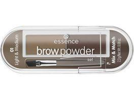 essence brow powder set 02 dark deep