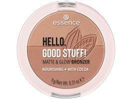 essence HELLO GOOD STUFF MATTE GLOW BRONZER