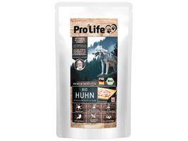 PRO LIFE HUND Premium Nassfutter Bio Huhn schmackhafte Terrine