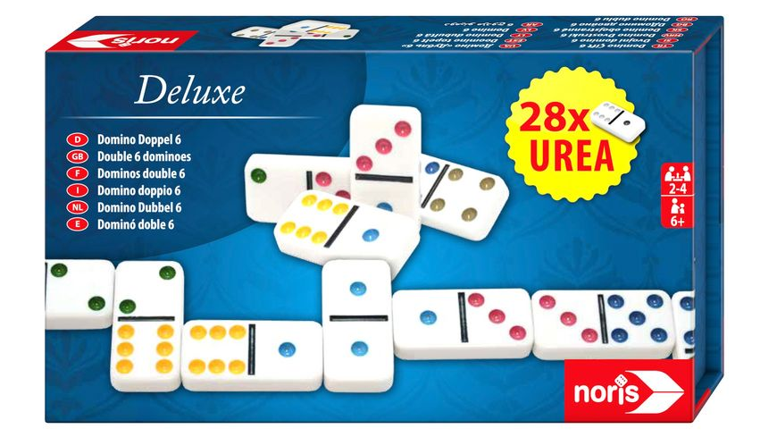 Noris Spiele - Deluxe Doppel 6 Domino