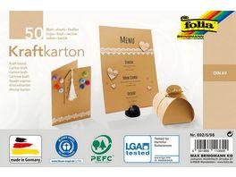 Folia Kraftkarton A5 50 Blatt natur