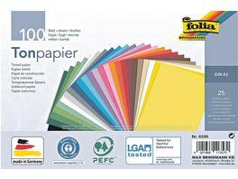 Folia Tonpapier A5 farblich sortiert