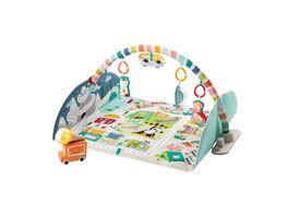Fisher Price Jumbo Abenteuer Spieldecke mit Spielbogen Baby Decke Spielteppich