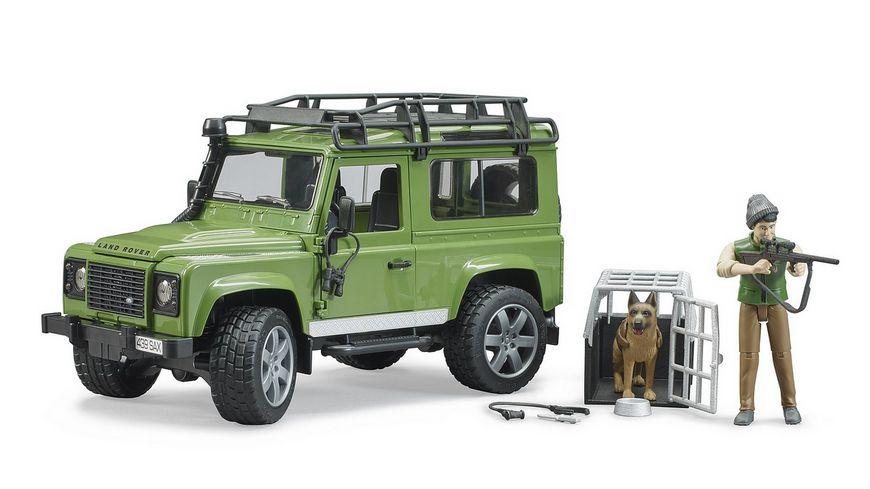 BRUDER Land Rover Defender Station Wagon mit Foerster und Hund